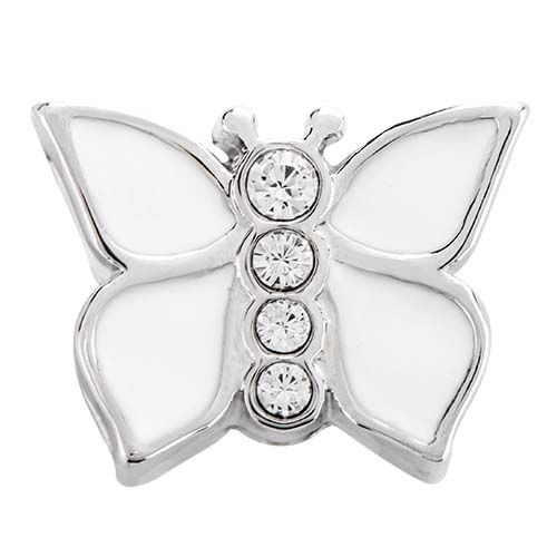 BS1019 Silver Opalescent Butterfly Slider with Swarovski Crystals copy